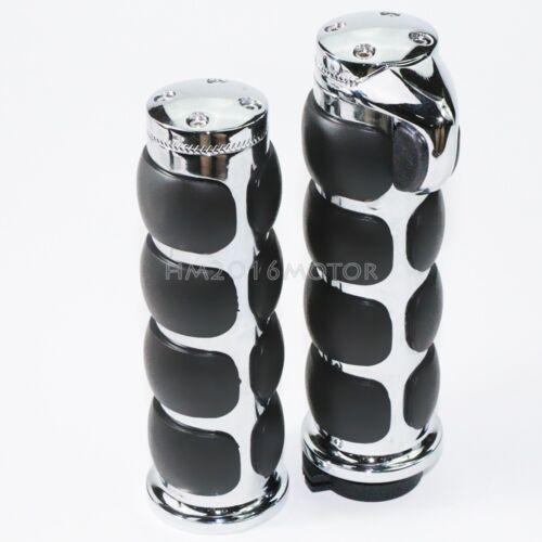 "1/"" Motorcycle Handle Bar Hand Grips Fit Harley Davidson Road King Softail Custom"