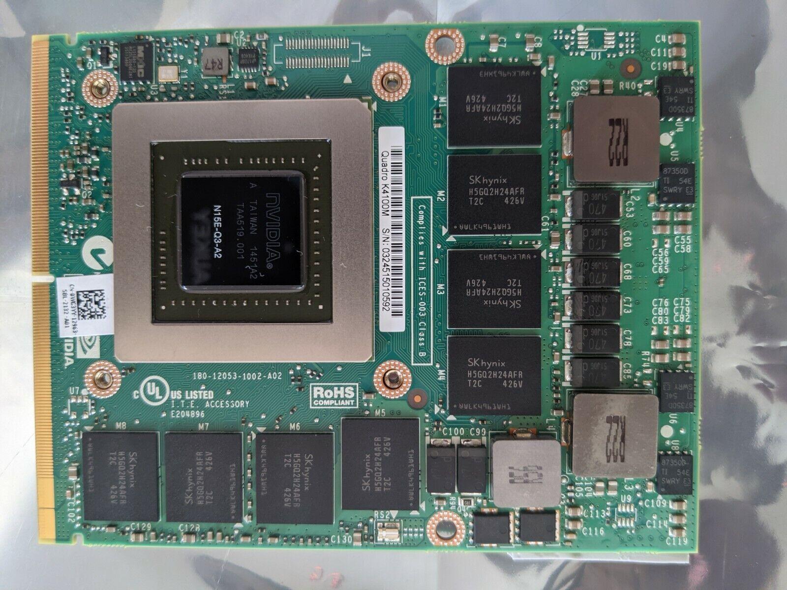 Brand New Bulk Dell Nvidia Quadro K4100M 4GB Graphics Card N15E-Q3-A2 0WG3YY