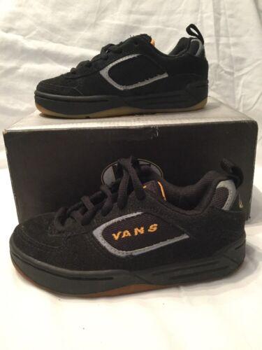 Uk daim enfants Vans en Chaussures 13 Bnib Maverick taille noir Skate authentiques AU6X8