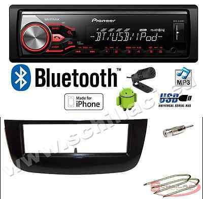 Pioneer MVH-X390BT autoradio USB Kit montaggio per FIAT Punto evo bluetooth