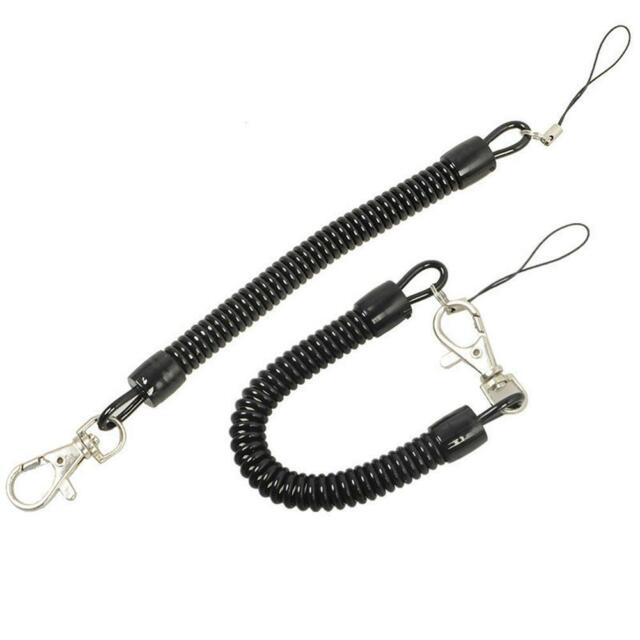 Anti Lost Retractable Plastic Spring Elastic Rope Security Gear Airsoft