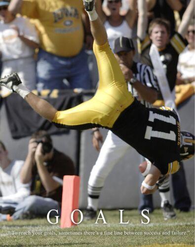 Iowa Hawkeyes Football Motivational Poster Art Nile Kinnick Ed Hinkel MVP338