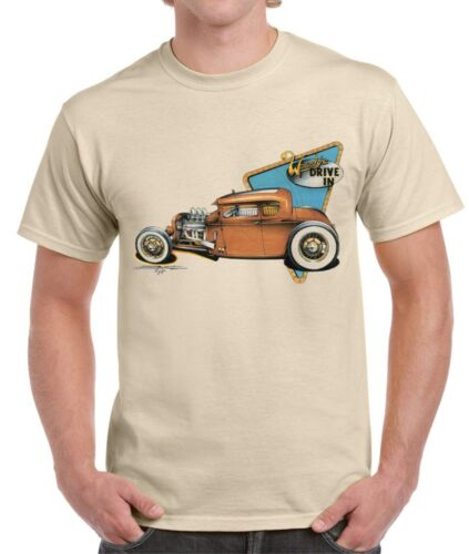 WOODY/'S DRIVE-IN HOT RODT-SHIRT