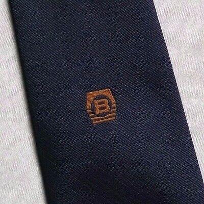 Vintage Cravatta Da Uomo Cravatta Crested Club Associazione Società B Logo-mostra Il Titolo Originale Estremamente Efficiente Nel Preservare Il Calore