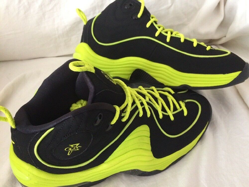 NEW  Nike Air Penny 2 Neon Yellow Size 9