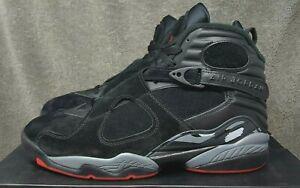 new photos 3079c ceb61 Image is loading Nike-Air-Jordan-8-VIII-Retro-Black-Cement-