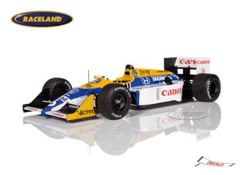 Spark 1//18th Williams-honda fw11b f1 World Champion 1987 nelson piquet 18s118