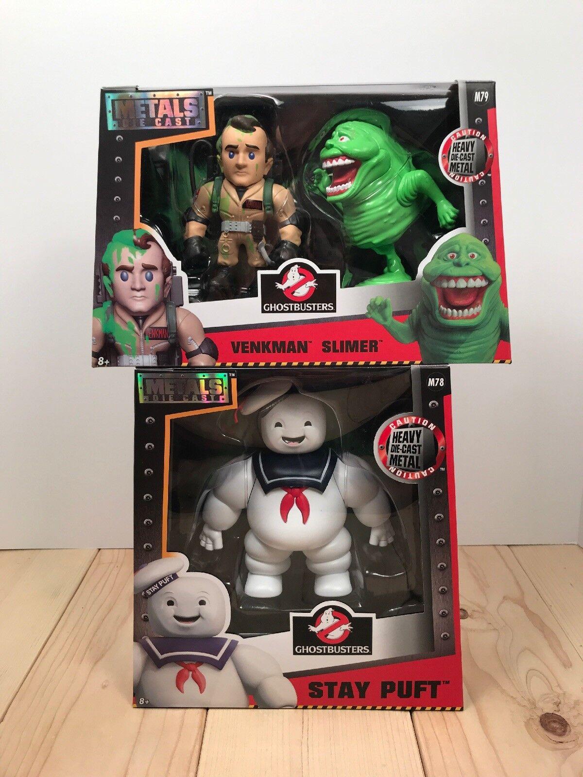 Jada Toys Ghostbusters Metal Diecast Stay Puft   Venkman  Slimer Lot NIB