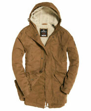 Mens Superdry Military Parka Jacket Rusty Gold