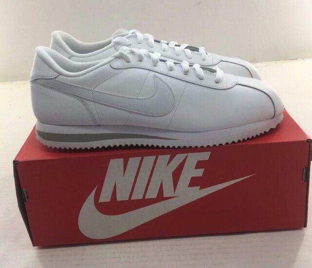 cheaper e3891 e712e Nike Cortez Basic Leather 06 Casual ShoesWhite Mens 316418-113