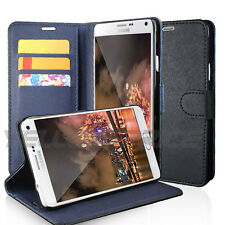 New PU Leather Smart Wallet Flip Case Cover for Samsung Galaxy Note 4 N910 N9100