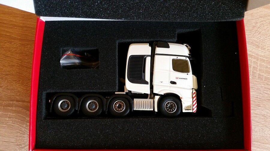 Herpa 071307 - 1 50  MERCEDES-BENZ Actros SLT Tracteur-DB Schenker-Neuf  magasin vente sortie