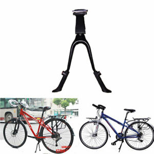 Metal-Double-Leg-Center-Mount-Bicycle-Bike-Kick-Stand-Adjustable-26-034-and-Above