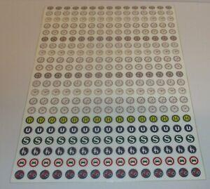 Uhren, Schilder selbstklebend Ø 1cm - 1 kompletter Bogen > *NEU*