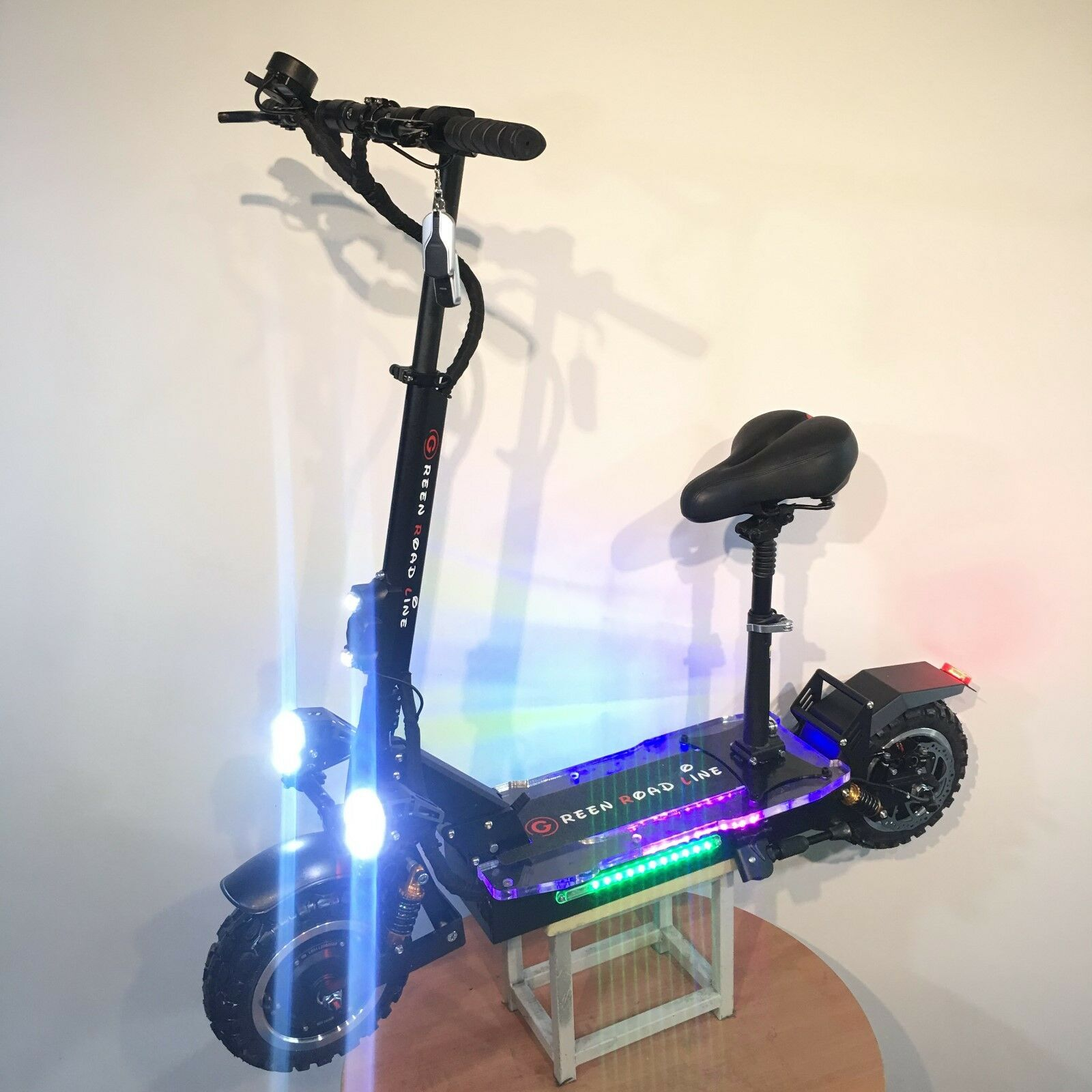 SUN 2000w 48v Two Wheel 12in. Folding Off Road Electric Scooter FAST 25-30MPH