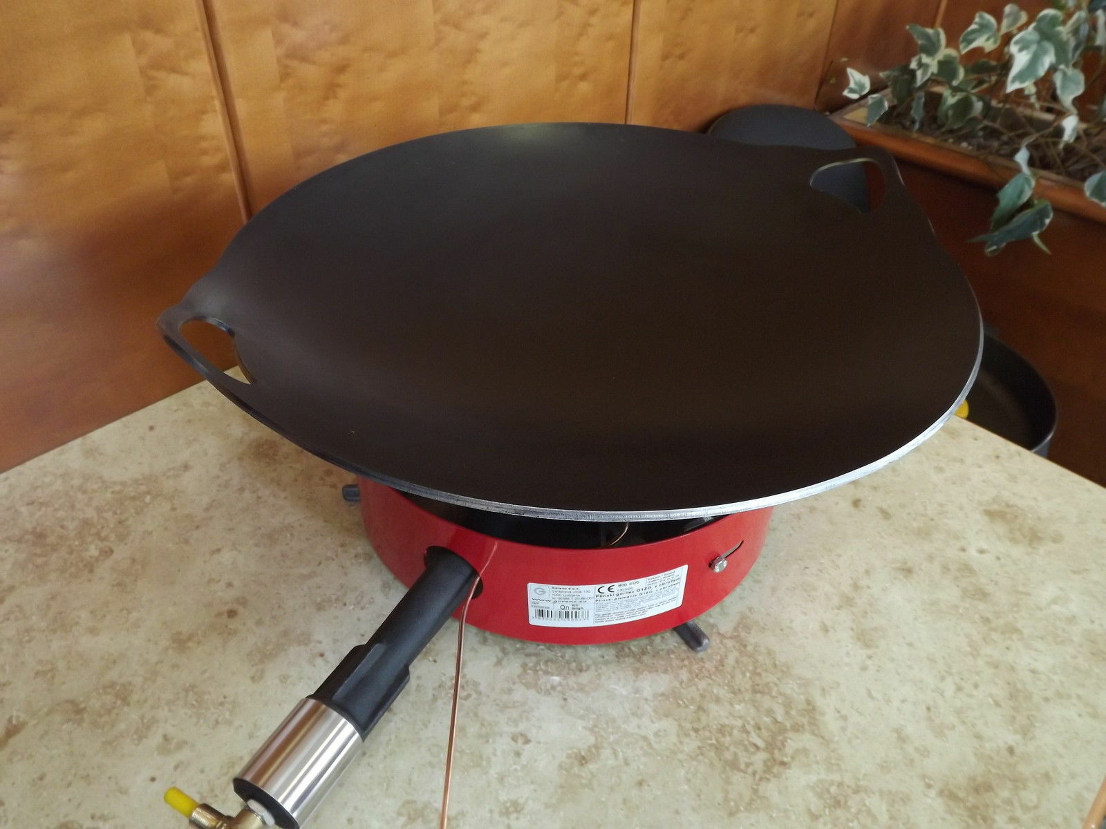 CATERING    WOK - Portable Strifry Pan Wok Large 55 cm With burner b9d85c