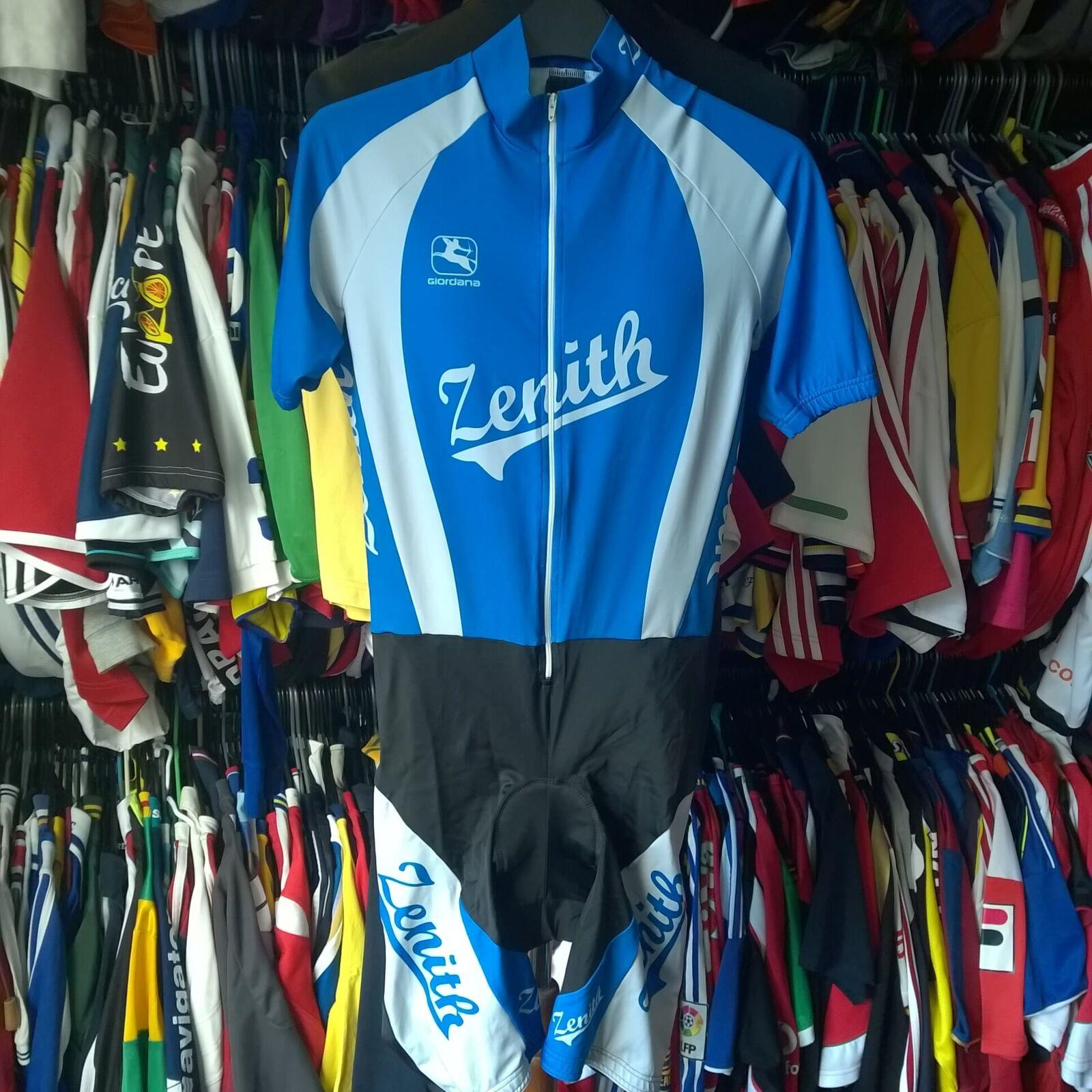 Team ZENITH Pelle Tuta ciclismo tutto in uno 1990S Vinatge GIORDANA Taglia Adulto M