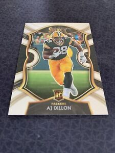 2020 Panini Select Rookie AJ Dillon Silver Concourse Prizm RC Packers