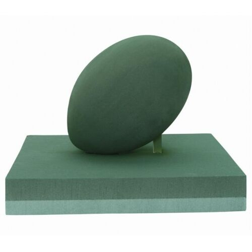 RUGBY BALL ON PITCH FUNERAL MEMORIALTRIBUTE 3D WET OASIS TYPE FOAM SKU 2481