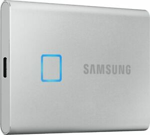 Samsung - Portable T7 Touch 2TB External USB 3.2 Gen 2 Portable Solid State D...