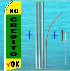 NO CREDITO OK Half Curve PREMIUM WIDE Swooper Flag Spanish Blue