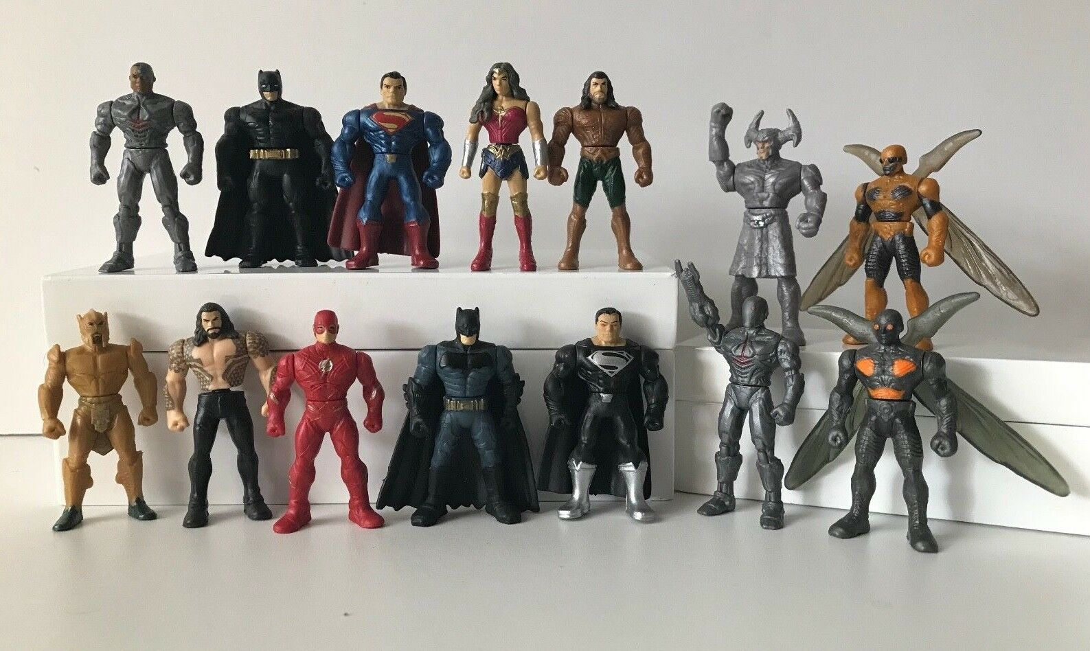 NEW Justice League Movie Mighty Minis SERIES 1 & 2 COMPLETE Set Flash Cyborg