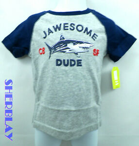 Toddler-Boys-Crazy-8-JAWESOME-DUDE-SHARK-Shirt-12-18-Months-NWT