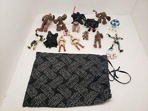 Star-Wars-Figures-Lot-Of-15-Figures-CHEWBACCA-LUKE-SKYWALKER-DARTH-VADER