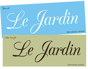 Image Is Loading French Stencil Le Jardin Flower Scipt Font Country