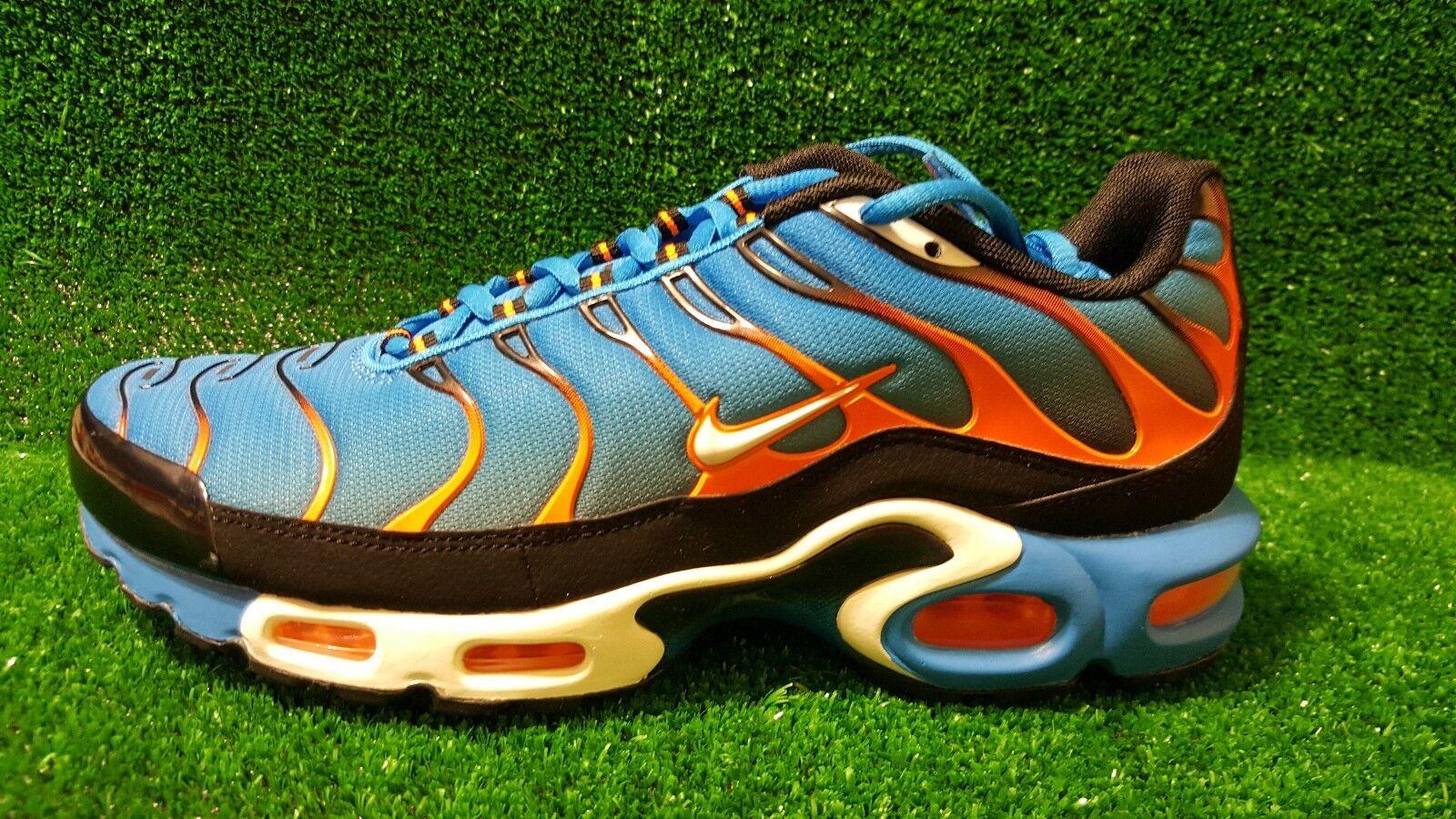 Nike Air Max Plus Tn Tuned 1 852630 Photo Bleu Orange blanc 852630 1 400 Sz us 7-8.5 8108ee