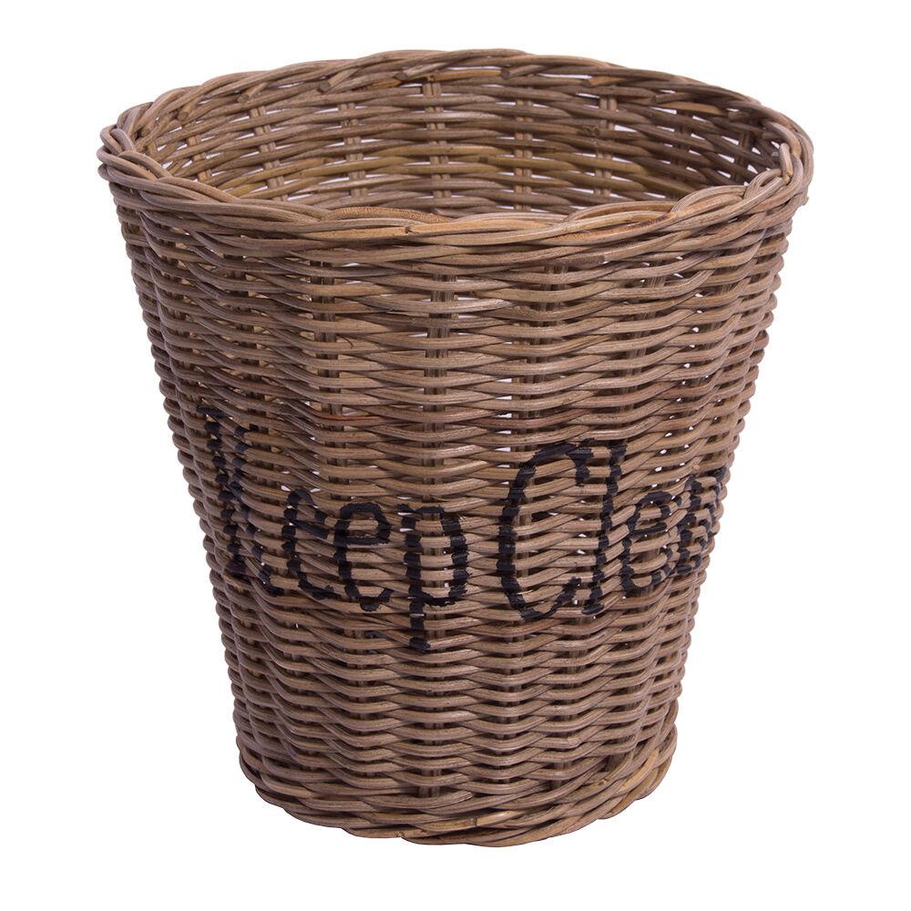 Papierkorb Keep Clean Natur Rattankorb Rattan Flechtkorb Abfallkorb | Starke Hitze- und Abnutzungsbeständigkeit