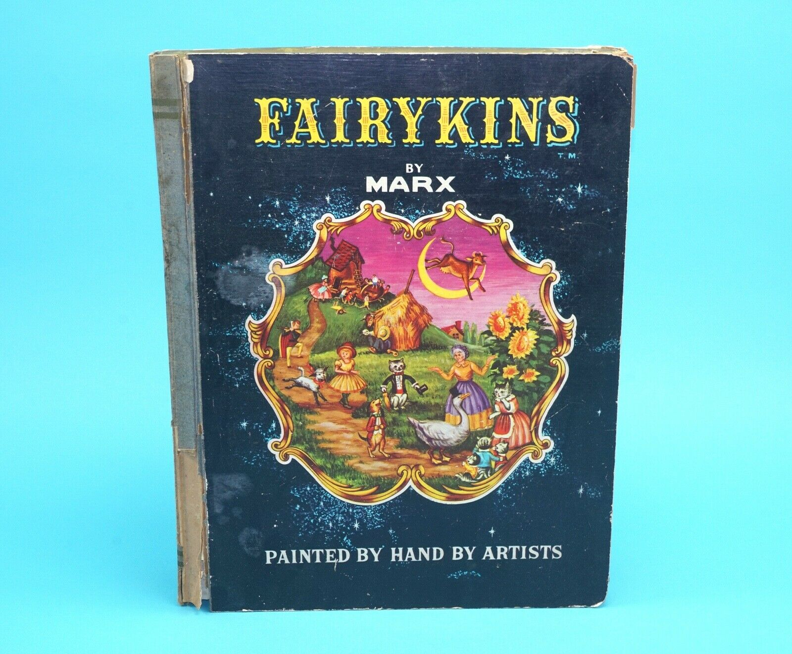 FAIRYKINS MINIATURE FAIRY STORIES FIGURES BOOK BOX SET 1962 MARX USA