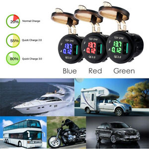 Waterproof-Voltmeter-Ammeter-Car-Quick-Charge-Multifunctional-car-electronic