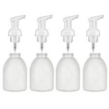 4 White Pump Refillable 14 Oz Bottle Foaming Liquid Soap Lotion Empty Dispenser