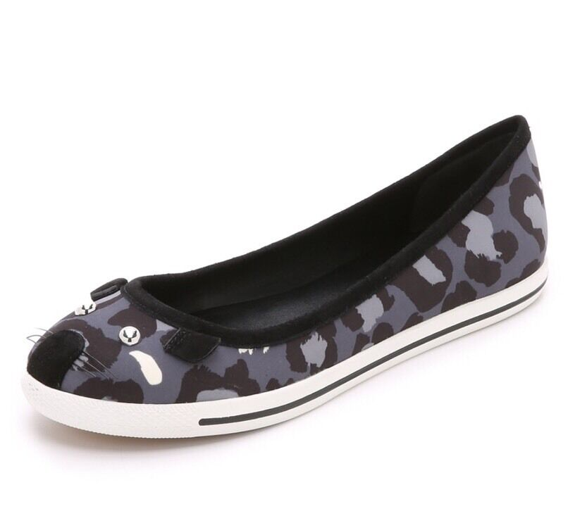 Marc By Marc Marc Marc Jacobs Elephant Camo Grey Multi Mouse Flat Sneakers Ballerina 6.5 1cd0ef