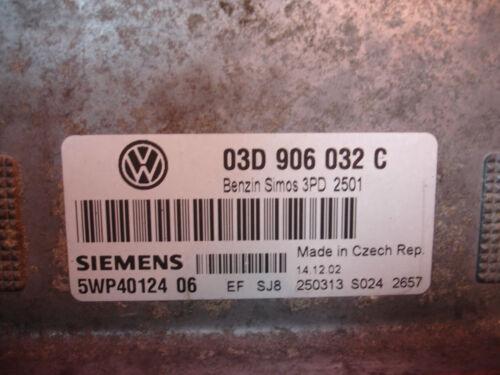 03D906032C VW POLO 1.2 PETROL ENGINE ECU 03D906032 C 5WP40124 06
