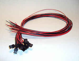 SMC-VJ10-20-4a-6-Cable-24-long-w-black-plug-1-Lot-of-10-ea-NEW