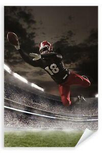 Postereck-Poster-1039-Football-Touch-Down-Sport-NFL-Sprung-Angriff-USA-rot
