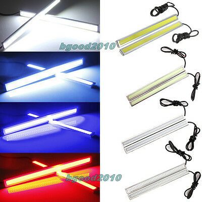 2pcs 17cm LED COB Car Auto Fog DRL Driving Daytime Running Light Lamp Bright 12V
