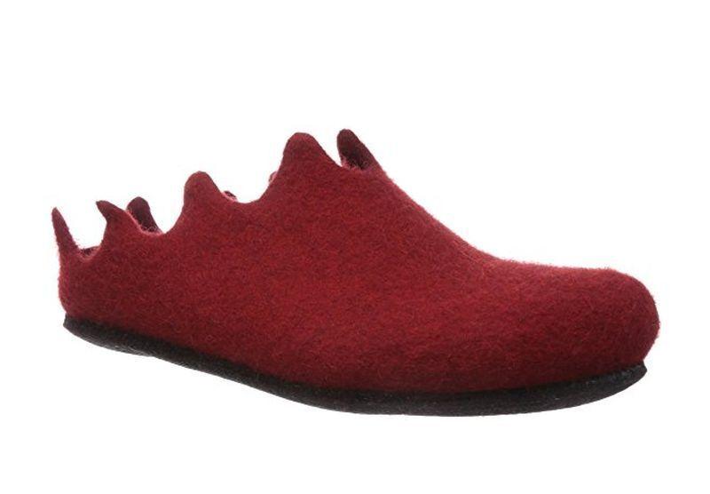 Magicfelt magicfelt Feltro Pantofole ve 721 ROSSO RUBINO
