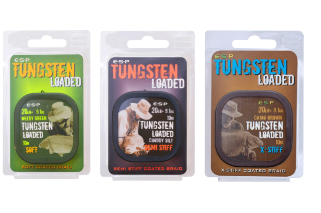 All Colours Available ESP Tungsten Loaded Braid Hooklink Soft Or Semi-Stiff
