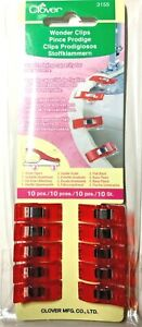 Clover-Wonder-Clips-set-of-10-clips-3155-made-in-Japan