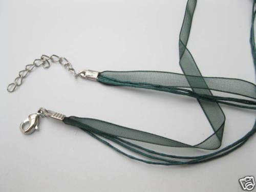 Kombiband mit Verschluss ca 45cm dunkelgrün Perlen neu Beads 4247