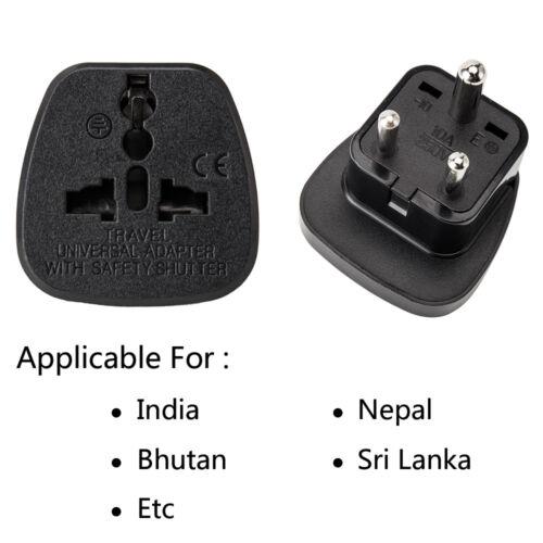 UK to India Pakistan Sri-lanka Nepal Travel Adaptor Power Plug Converter