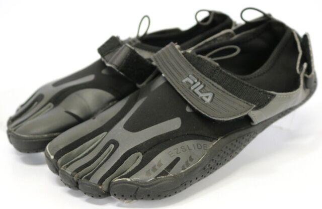 42ef9975d32c Fila Skele-Toes EZ Slide  95 Men s Workout Barefoot Slip On Shoes Size 9  Black