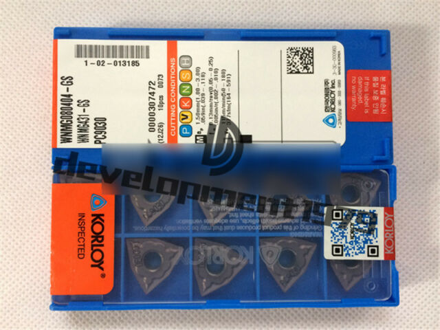 10pcs KORLOY WNMG431-HM PC9030 WNMG080404-HM PC9030  Carbide Inserts New