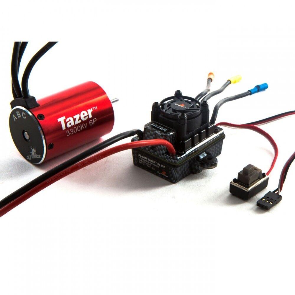 Dynamite Tazer 1 10 6 polos 3300Kv WP ESC Motor com DYNS 0600