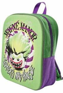 NEW OFFICIAL LEGO Batman The Joker Boys 3D Backpack Rucksack School Bag