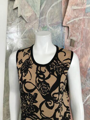 à Noir manches mélangée Grand Rose sans Sz Beige fleurs soie Pull en Belford R Rose qP4UYxE
