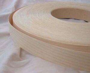 Ash Iron On Edging Pre Glued Real Wood Veneer Tape 18mm